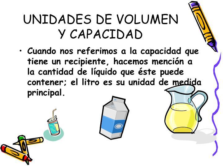 UNIDADES DE VOLUMEN Y CAPACIDAD