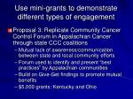 use mini grants to demonstrate different types of engagement2