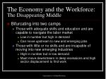 the economy and the workforce the disappearing middle