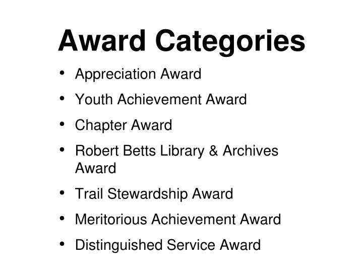 Award Categories