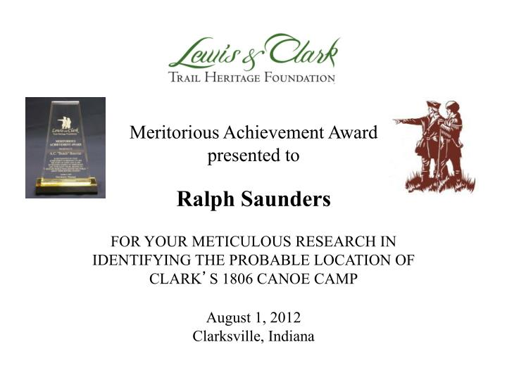 Meritorious Achievement Award