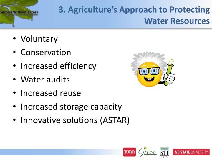 3. Agriculture's Approach to Protecting Water Resources