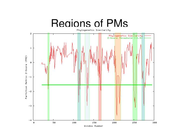 Regions of PMs