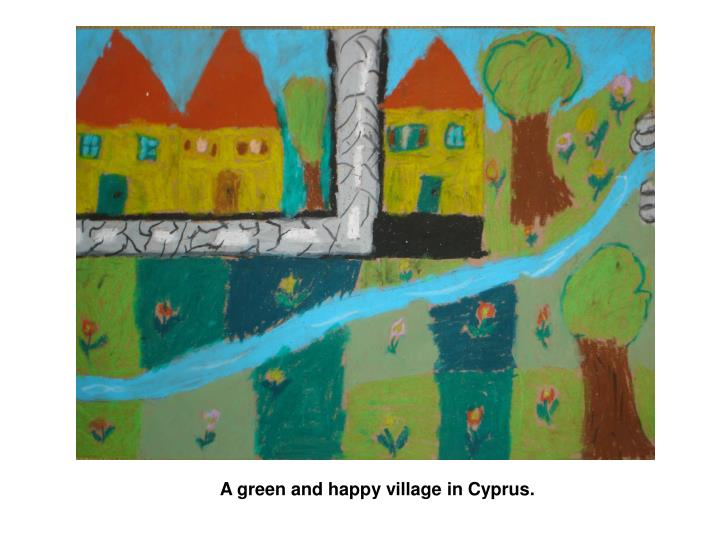 A green and happy village in Cyprus.