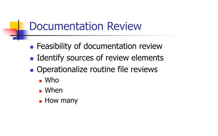 Documentation Review