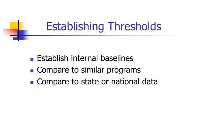 Establishing Thresholds