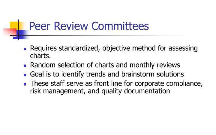 Peer Review Committees
