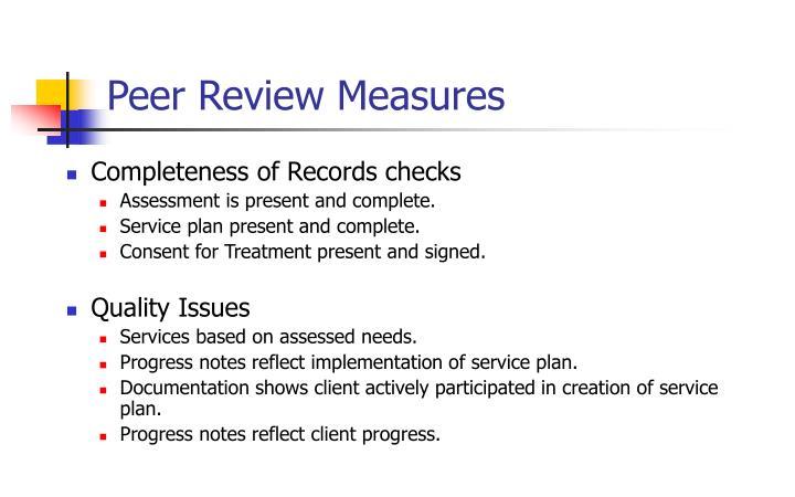 Peer Review Measures