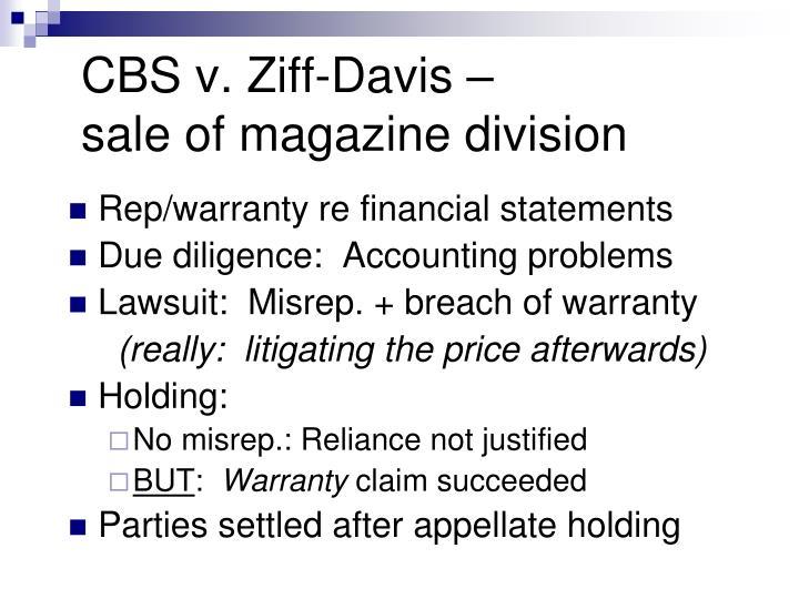 CBS v. Ziff-Davis –