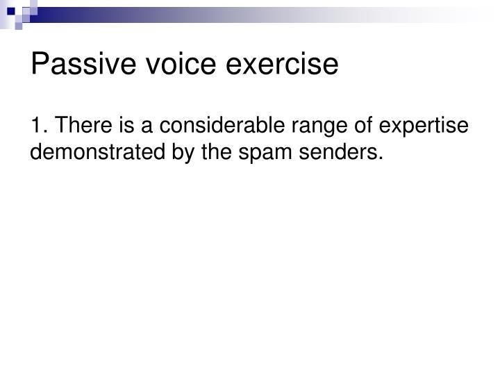 Passive voice exercise