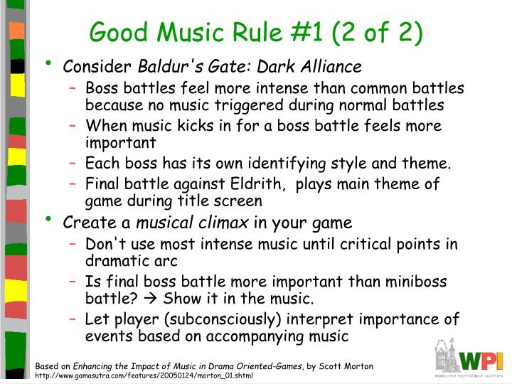 Good Music Rule #1 (2 of 2)