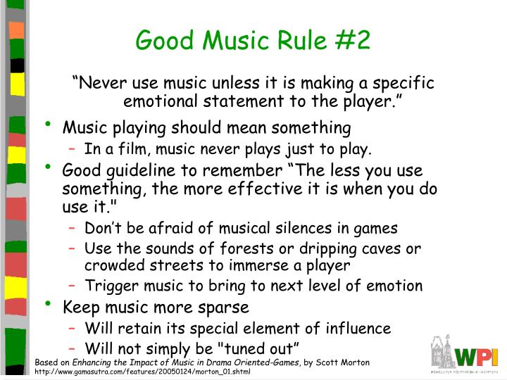 Good Music Rule #2