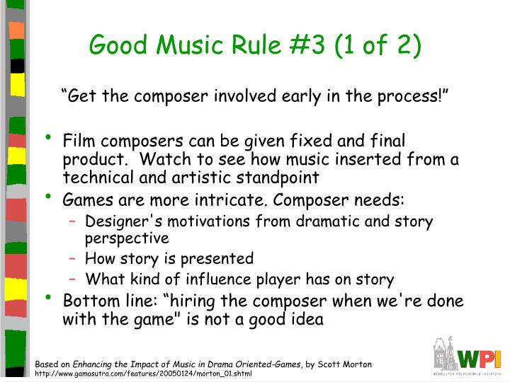 Good Music Rule #3 (1 of 2)