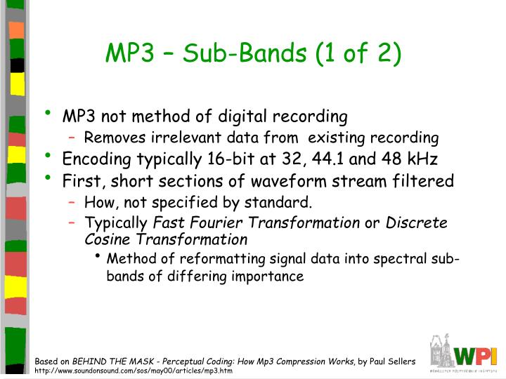MP3 – Sub-Bands (1 of 2)