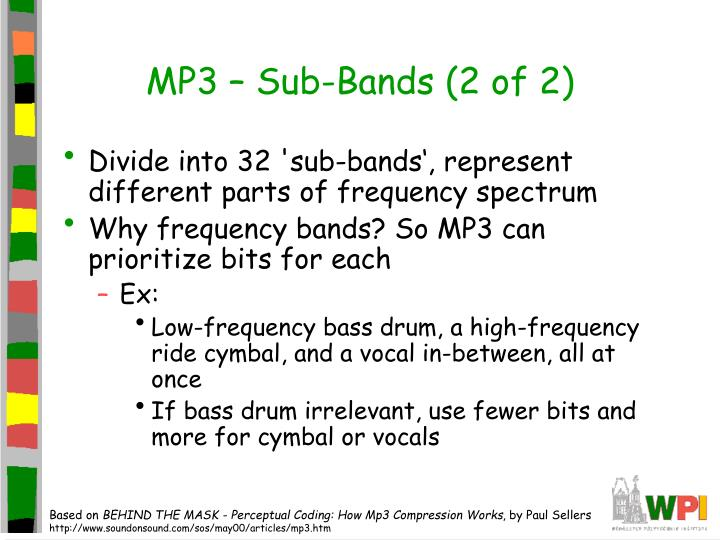 MP3 – Sub-Bands (2 of 2)