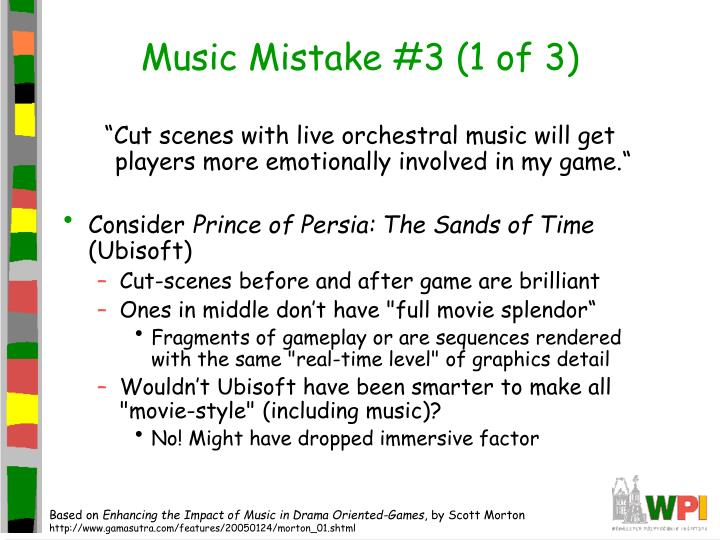 Music Mistake #3 (1 of 3)