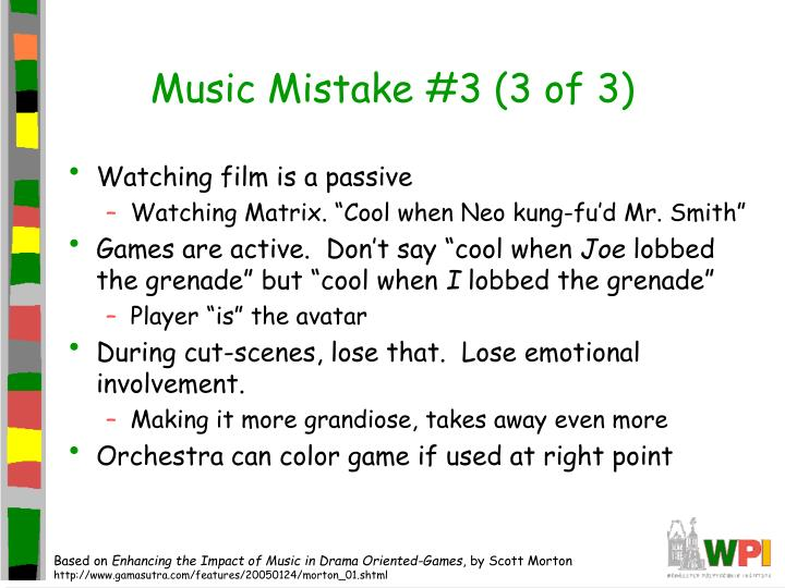 Music Mistake #3 (3 of 3)