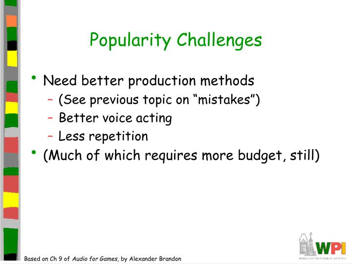 Popularity Challenges