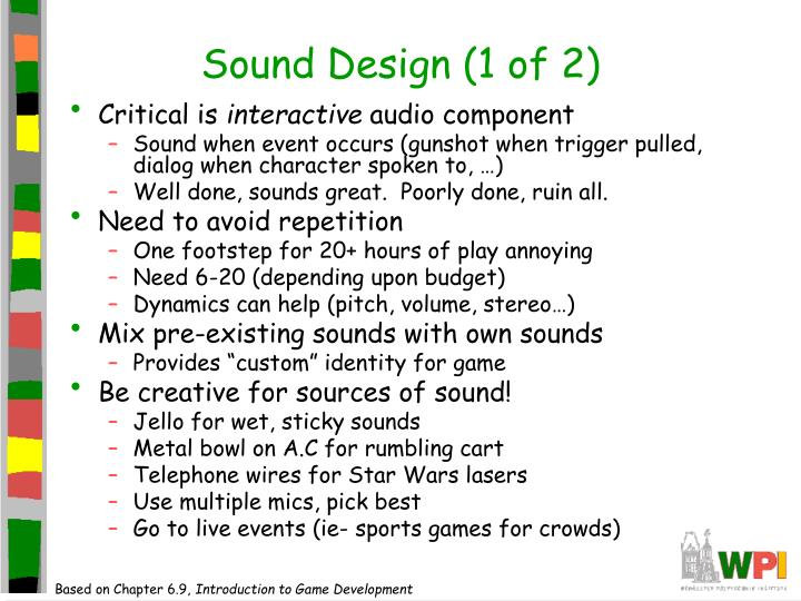 Sound Design (1 of 2)