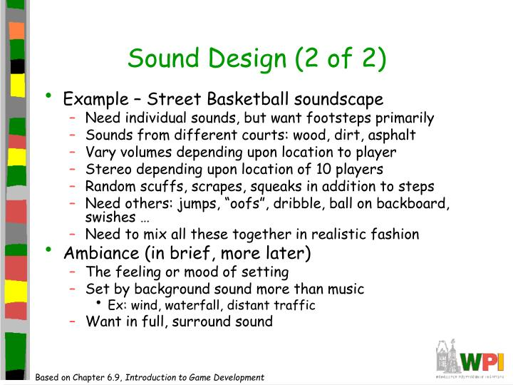 Sound Design (2 of 2)