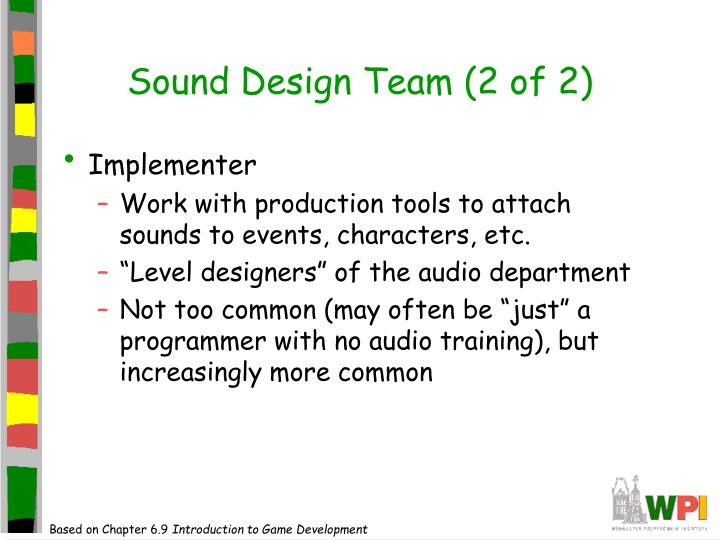 Sound Design Team (2 of 2)