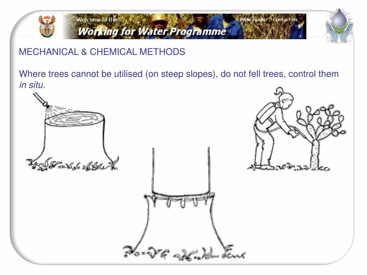 MECHANICAL & CHEMICAL METHODS