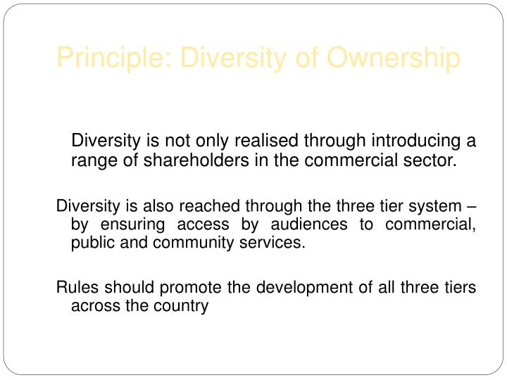 Principle: Diversity of Ownership