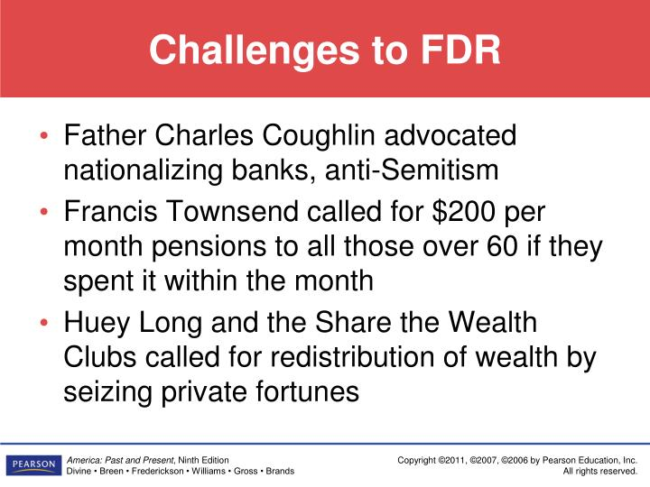 Challenges to FDR