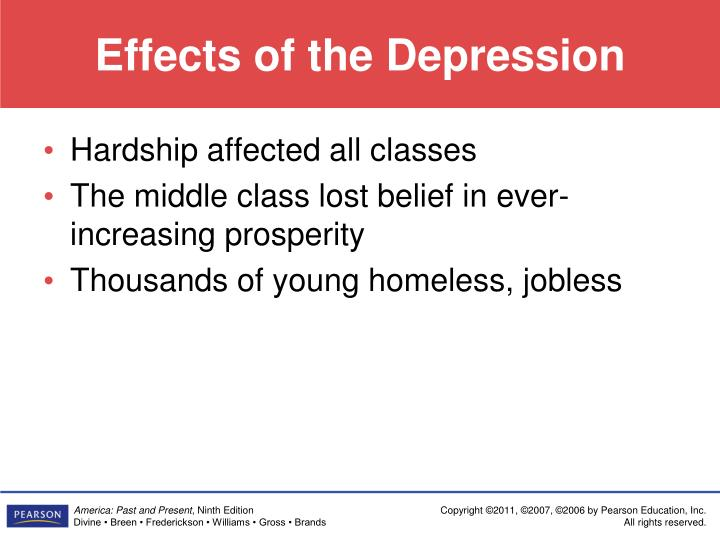 Effects of the Depression
