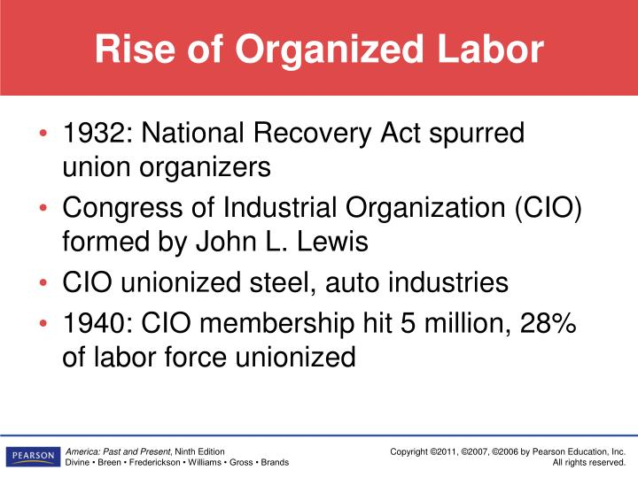 Rise of Organized Labor