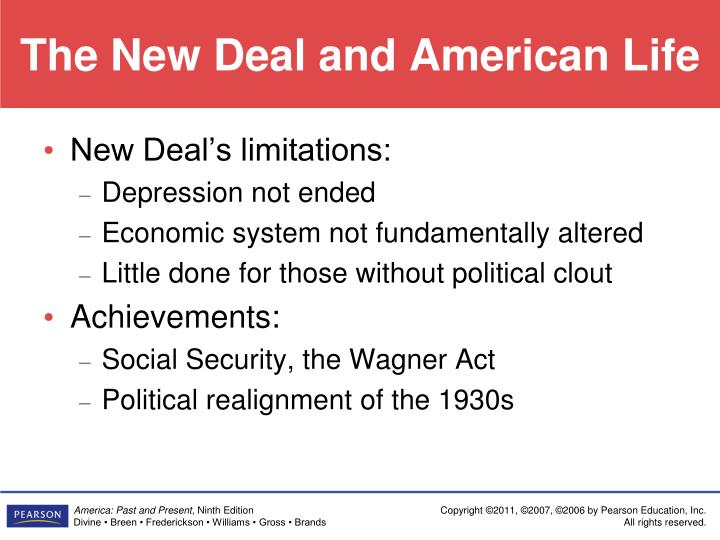 The New Deal and American Life