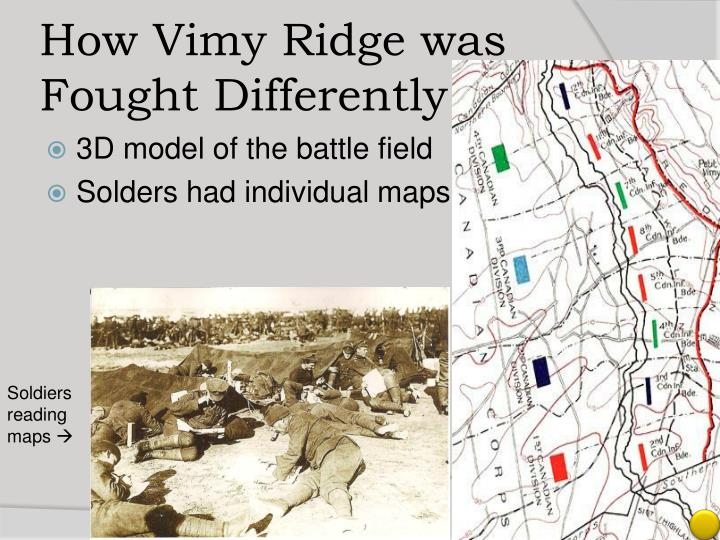 How Vimy Ridge was Fought Differently