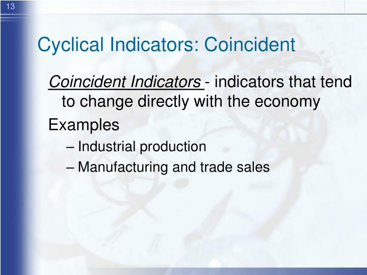 Cyclical Indicators: Coincident