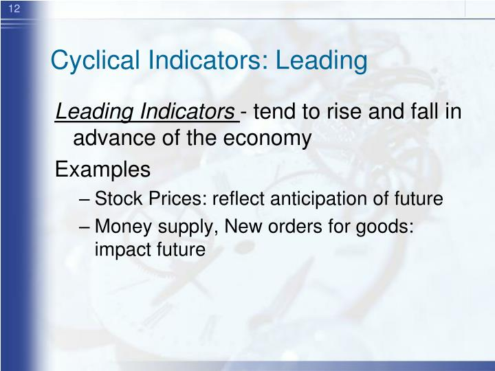 Cyclical Indicators: Leading