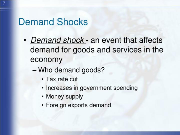 Demand Shocks