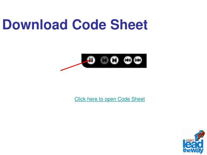 Download Code Sheet