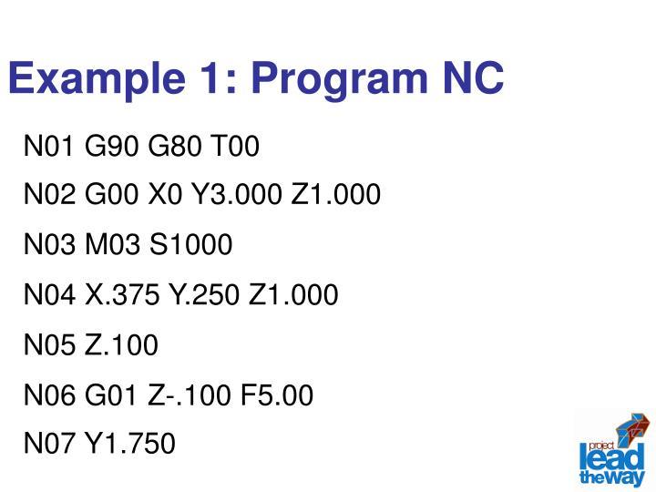 Example 1: Program NC