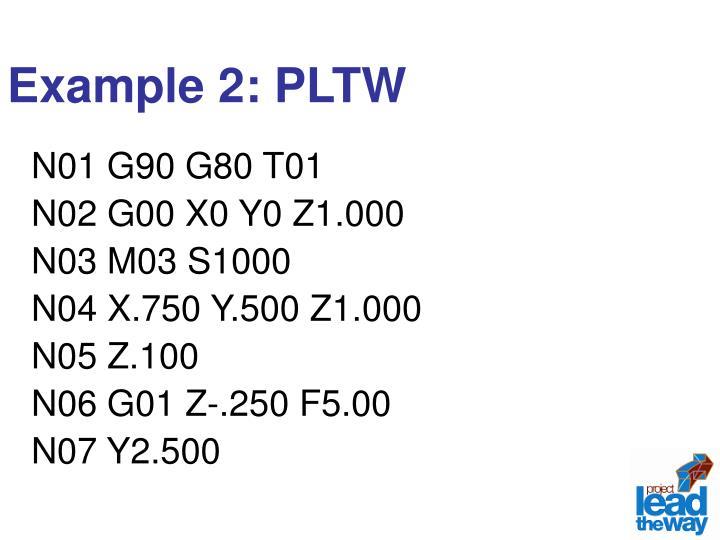 Example 2: PLTW
