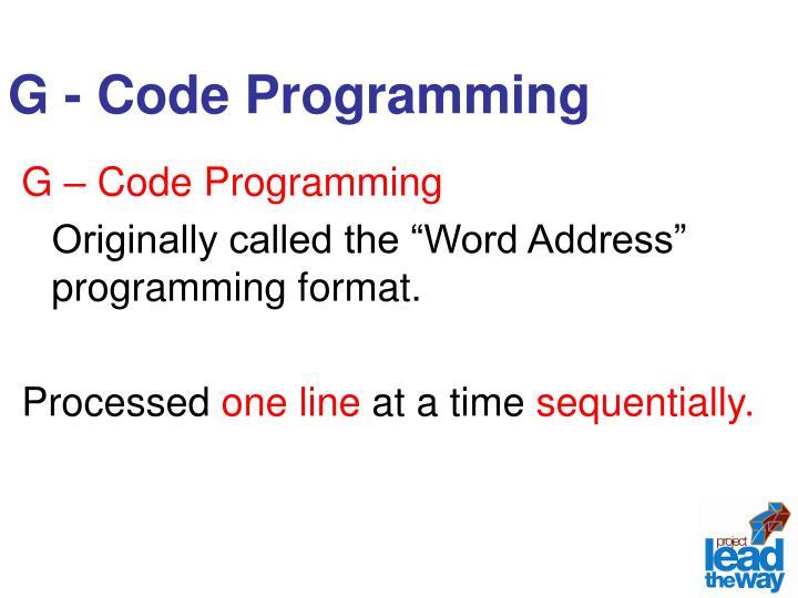 G - Code Programming