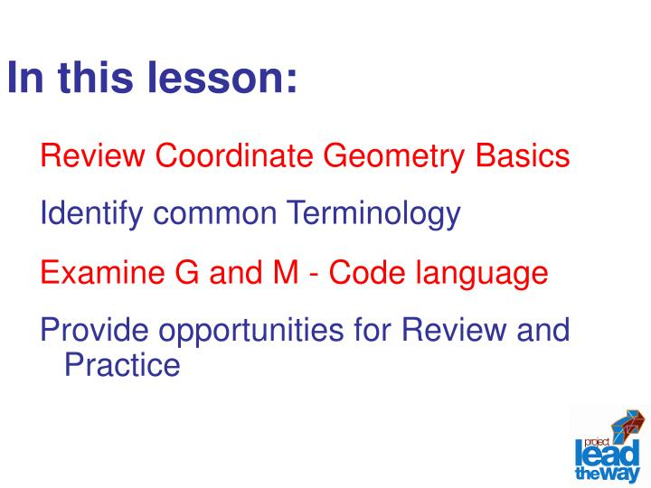 In this lesson: