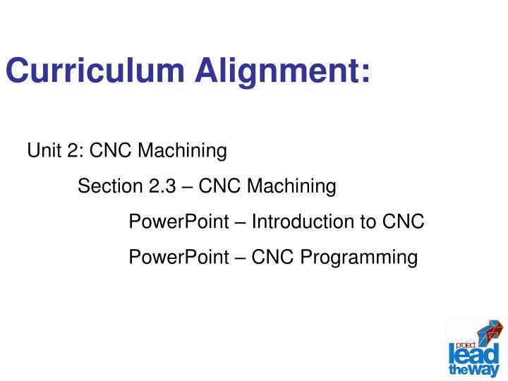 Curriculum Alignment: