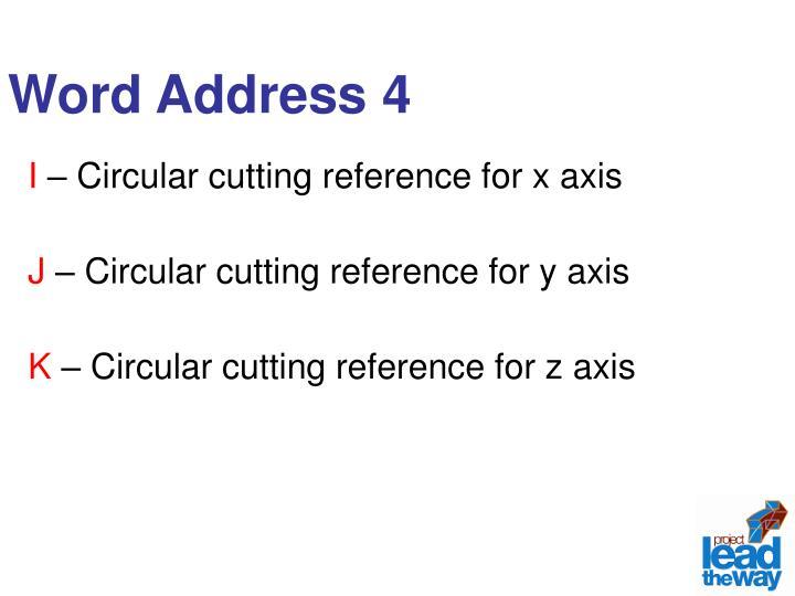 Word Address 4