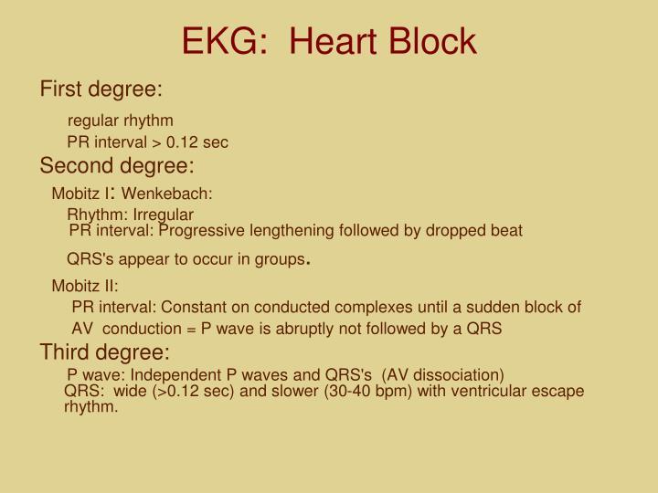 EKG:  Heart Block