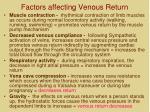 factors affecting venous return