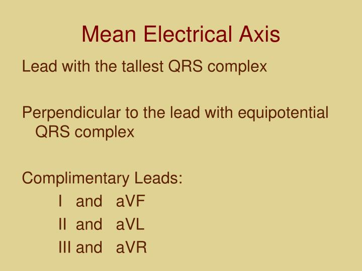 Mean Electrical Axis