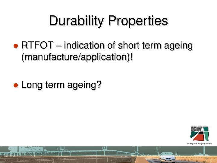Durability Properties