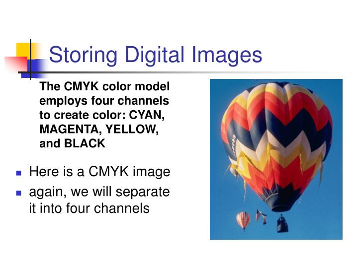 Storing Digital Images