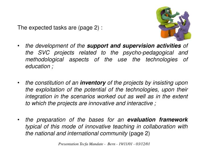 The expected tasks are (page 2):