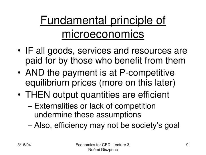 Fundamental principle of microeconomics
