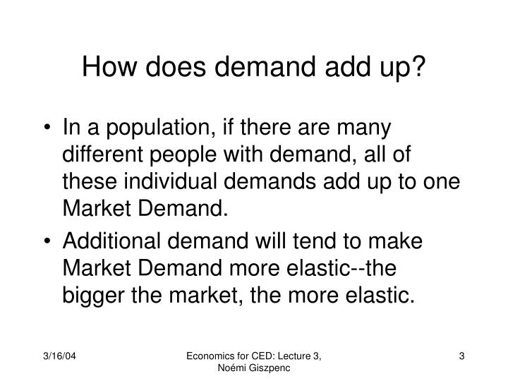 How does demand add up